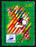 Postage stamp France 1998 1998 World Cup Soccer Championships — Stock Photo