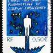 Postage stamp France 2003 Charter of Fundamental Rights — Stock Photo