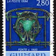 Postage stamp France 1994 Cast Iron, c.1900, by Hector Guimard — Stock Photo
