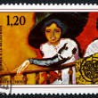 Postage stamp France 1975 Woman on Balcony, by Kees van Dongen — Stock Photo