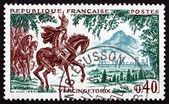 Postage stamp France 1966 Vercingetorix at Gergovie, 52 B.C. — Stock Photo