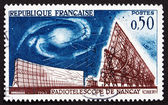 Postage stamp France 1963 Radio Telescope, Nancay — Stock Photo