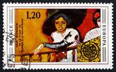 Pul pul fransa 1975 kadın balkonda, kees van dongen tarafından — Stok fotoğraf
