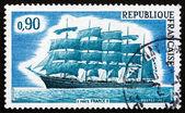 Postage stamp France 1973 Five-master France II, Sailboat — Stock Photo