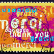 Postage stamp France 1999 Thank You, Announcement — Stock Photo #29954871