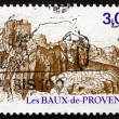 Postage stamp France 1987 Les Baux, Provence — Stock Photo