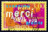 Francobolli francia 1999 grazie, annuncio — Foto Stock