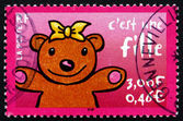Postage stamp France 2001 It's a Girl, Announcement — Stock Photo