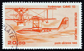 Postage stamp France 1985 CAMS-53 Seaplane — Stock Photo