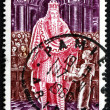 Postage stamp France 1966 King Charlemagne Attending School — Stock Photo