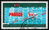 Postage stamp France 1977 Centre Georges Pompidou — Stock Photo