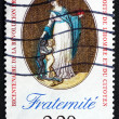 Postage stamp France 1989 Fraternity, Declaration of Rights — Stock Photo