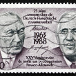 Postage stamp France 1988 Adenauer and De Gaulle, Presidents — Stock Photo #30049399