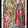 Stock Photo: Postage stamp France 1973 Coronation of Napoleon, Detail