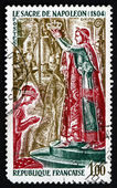 Postage stamp France 1973 The Coronation of Napoleon, Detail — Stock Photo