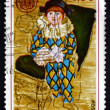 Postage stamp France 1975 Paul as Harlequin, Pablo Picasso — Stock Photo