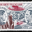 Stock Photo: Postage stamp France 1973 Guillaumet and Codos, Aviation Pioneer