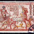 Postage stamp France 1976 Ramses II, Abu Simbel Temple, Eqypt — Stock Photo