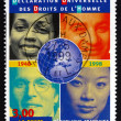Postage stamp France 1998 People of Various Races — Stock Photo