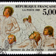 Stock Photo: Postage stamp France 1989 Oath of Tennis Court, by David