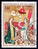 Postage stamp France 1970 Annunciation, Painting — Stock Photo