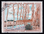 Postage stamp France 1974 Canal du Loing, by Alfred Sisley — Stock Photo