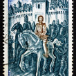Postage stamp France 1974 Joan of Arc Leaving Vaucouleurs — Zdjęcie stockowe