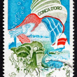 Postage stamp France 1974 Seashell over Corsica — Stock Photo