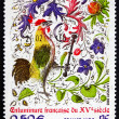 Postage stamp France 2003 Rooster, France, 15th Century — Stock Photo #30155859