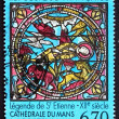 Stock Photo: Postage stamp France 1994 Stained Glass Window