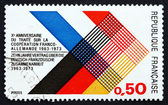 Postage stamp France 1973 Colors of France and Germany Interlace — Stock Photo
