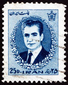 Postage stamp Iran 1966 Mohammad Reza Shah Pahlavi — Stock Photo
