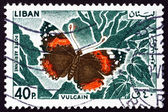 Postage stamp Lebanon 1965 Red Admiral, Butterfly — Stock Photo