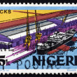 Stock Photo: Postage stamp Nigeri1973 Modern Docks