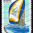 Postage stamp France 1990 Volvo Ocean Race, Yacht — Stock Photo