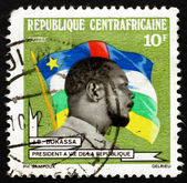 Briefmarke zentralafrikanische republik 1973 präsident bokassa — Stockfoto