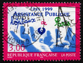 Postage stamp France 1999 Hands — Stock Photo