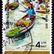 Postage stamp Thailand 1971 Floating Market — Stock Photo