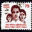 Postage stamp India 1994 Small Family, Happy Family — Stock Photo