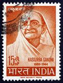 Postage stamp India 1964 Kasturba Gandhi — Stock Photo