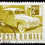 Postage stamp Romania 1968 Mail Truck — Stock Photo