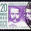 Postage stamp Mexico 1956 Leon Guzman and Ignacio Ramirez — Stock Photo