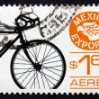 Postage stamp Mexico 1975 Bicycle — Stock Photo #31168217