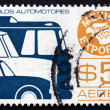 Stock Photo: Postage stamp Mexico 1976 Motor Vehicle, MexicExport