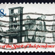 Stock Photo: Postage stamp US1973 Printer and Patriots Examining Pamphlet