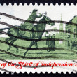 Postage stamp USA 1973 Postrider — Stock Photo