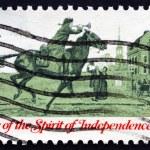 Postage stamp USA 1973 Postrider — Stock Photo