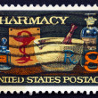 Postage stamp USA 1972 19th Century Medicine Bottles — 图库照片