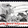 Postage stamp USA 1973 Posting a Broadside — Stock Photo