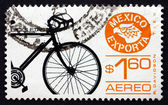 Postage stamp Mexico 1975 Bicycle — Stock Photo